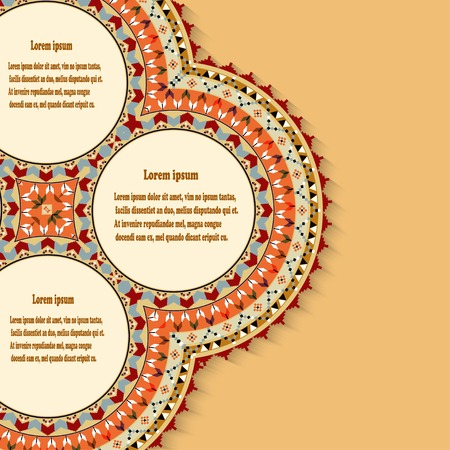 vitrage: Abstract background with a design element in the Mexican style. Vector illustration