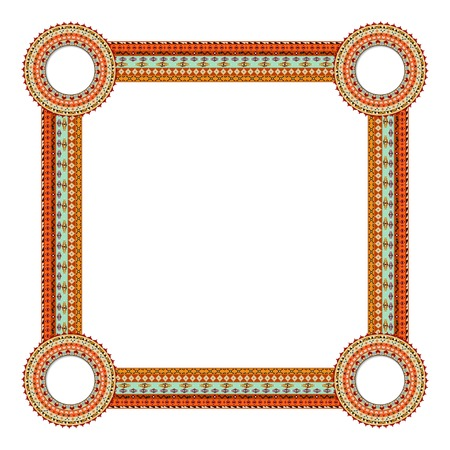 Original Abstract frame in Mexico tribal style. Vector illustration Vector