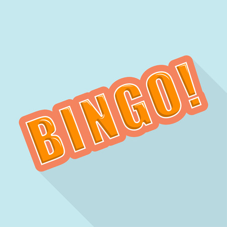 Cartoon BINGO. Design element for the site. Vector illustration Stock Vector - 29070058