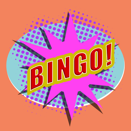Cartoon BINGO. Design element for the site.  Stock Vector - 29070059