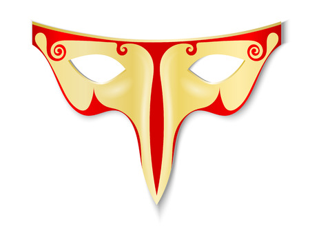 snoot: Carnival Mask isolated on white background. Vector illustration.