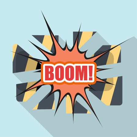 Cartoon BOOM. Design element for the site. Vector illustration Stock Vector - 29069854