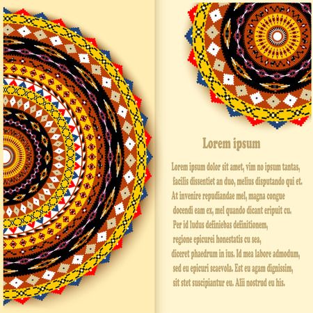 mexico culture: Abstract background with a circular geometric texture with traditional Mexican style