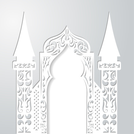 Abstract  background with arch. Vector illustration