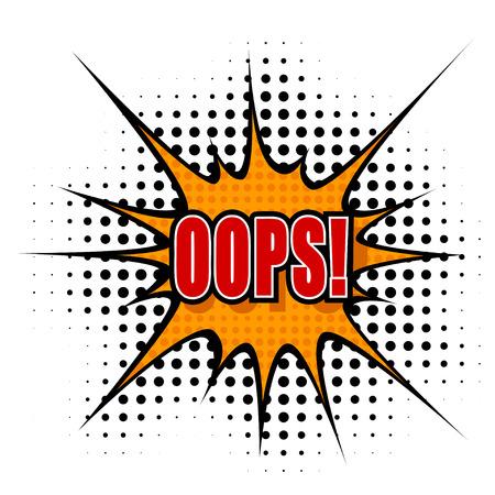 oups: Vecteur de dessin anim� oops!