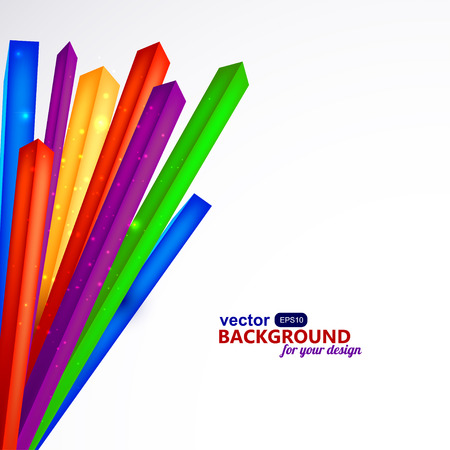 cabling: Colored corners of on a white background.