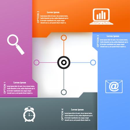 infochart: Modern  infographic for business project. Vector illustration