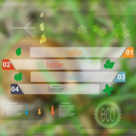 Infographic set with symbols Meteorology style Eko