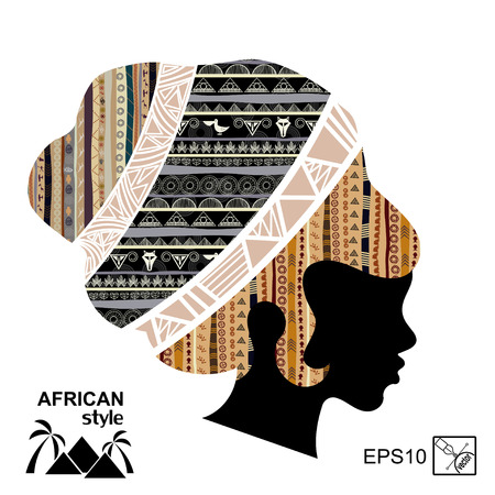 outage: Silhouette of the head of an African woman