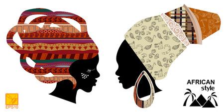Heads of an African womens Vector