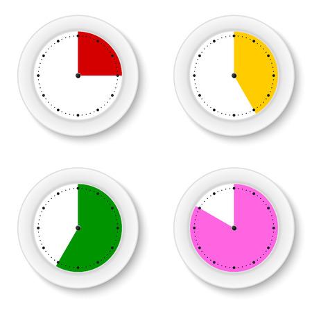 sectors: Set clocks isolates with bright sectors Illustration