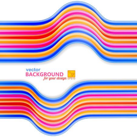 cabling: Bright abstract background with frame of wires. Vector illustration