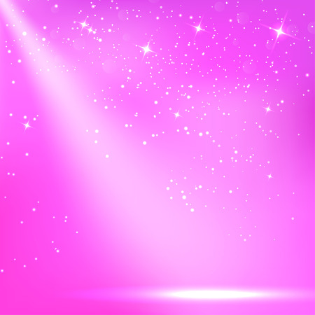 floodlit: Purple a scenic with spotlight background. Vector illustrations Illustration