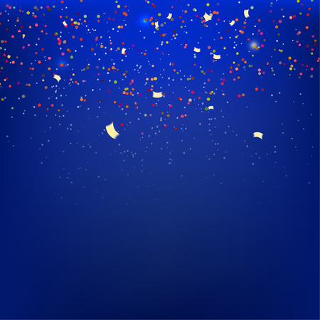 Streamers on a blue background with reflections Vector