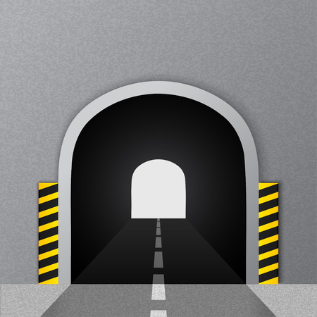 Road tunnel. Vector