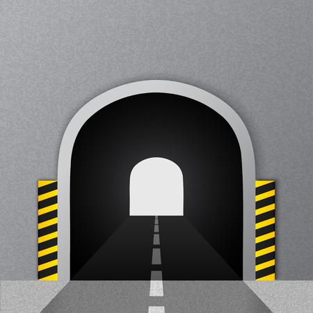 Road tunnel. Vector