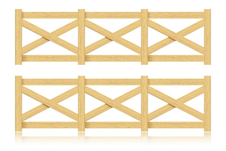 wooden fence: A set of wooden fence. Isolated.