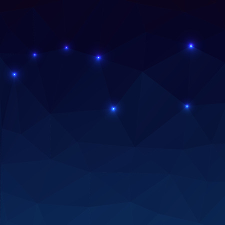 dipper: Big Dipper on a dark blue background in the polygonal style.
