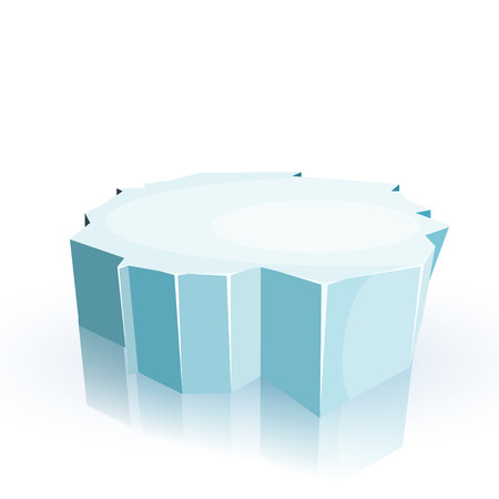 Floe isolated on a white background. Winter.  Illustration