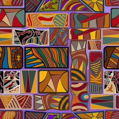 Seamless ethnic texture. Vector illustration Vector