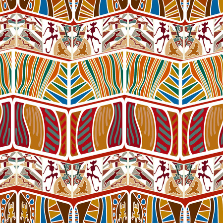 Tribal Abstract seamless pattern in the African style. Vector illustration Vector