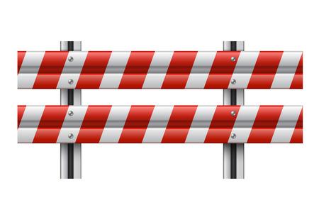 Vector illustration of a guardrail Vector
