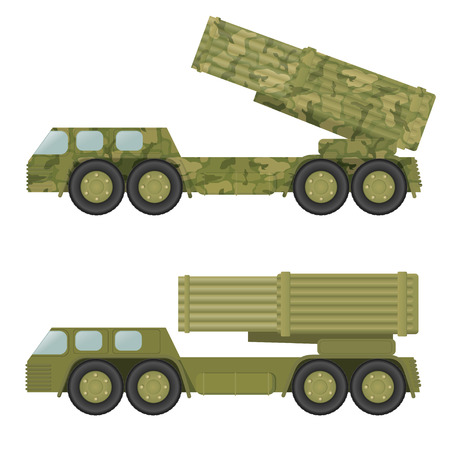 launcher: Military rocket launcher. Vector illustration