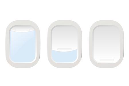 飛行機の照明を設定します。ベクトル イラスト