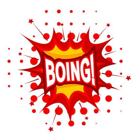 boing: Cartoon BOING! on a white background. Vector illustration. Illustration