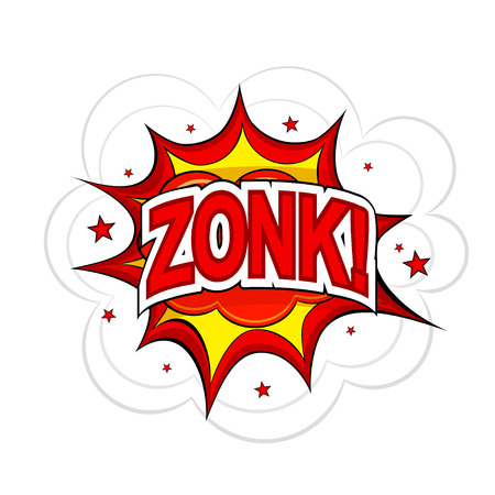 Cartoon ZONK! on a white background. Vector illustration. Vector