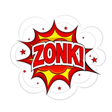 zonk: Cartoon ZONK! on a white background. Vector illustration.