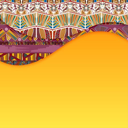 ilustraciones africanas: Fondo abstracto con elementos de Tribal. Ilustración vectorial