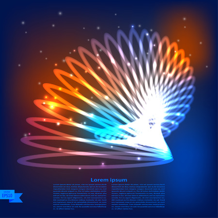planet futuristic: Abstract illustration of a futuristic planet. Vector illustration.