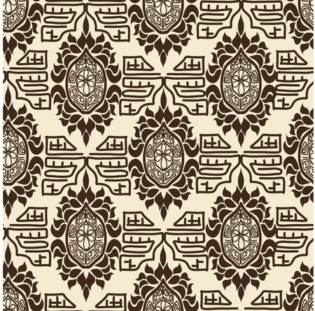 basis: Tribal retro pattern. Basis for fabrics and wallpapers. Vector illustration.