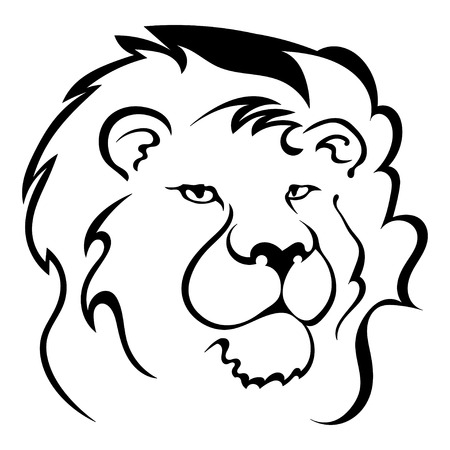 greatness: Silhouette of a lions head. Symbol of the greatness and pride. Vector illustration. Illustration