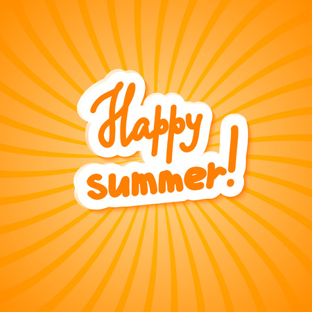 happy summer: Bright yellow background. Happy summer! Vector illustration.