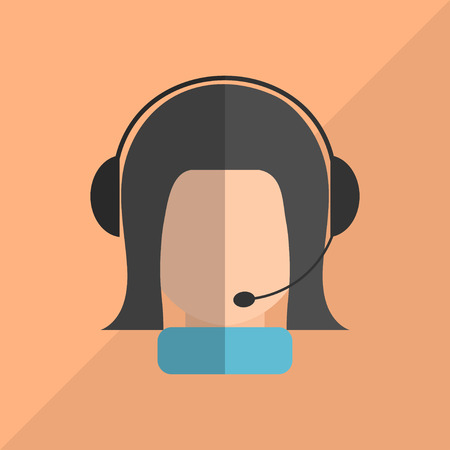 consultant: Flat button with consultant support services. Vector illustration. Illustration