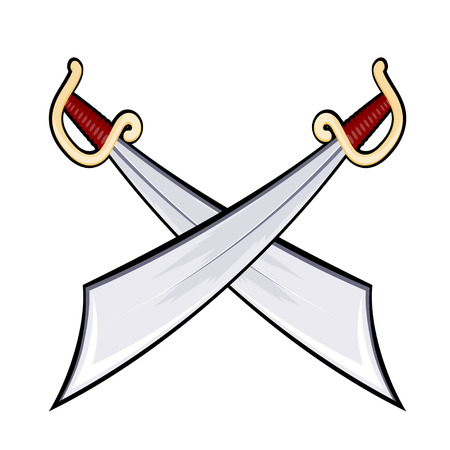 rogue: Set of swords isolated on white background. Weapons. Vector illustration. Illustration