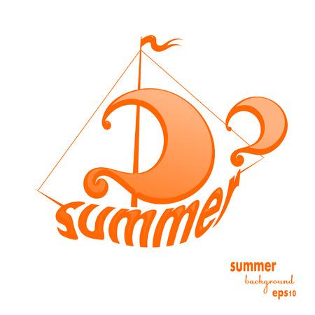 motivator: Yellow sailboat design element isolated on white background. Sailing ship. Vector illustration.