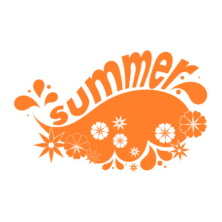 motivator: Yellow flower design elements. Summer. Vector illustration.
