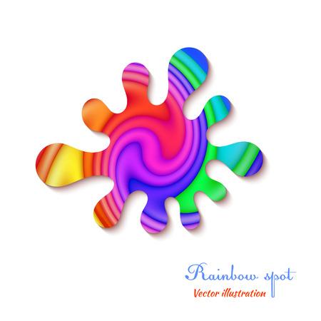 inkblot: Rainbow design stain isolated on a white background. Typography. Vector illustration. Illustration