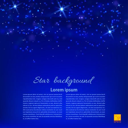 Blue abstract background with stars. Desktop Wallpaper or design element. Vector illustration Illustration