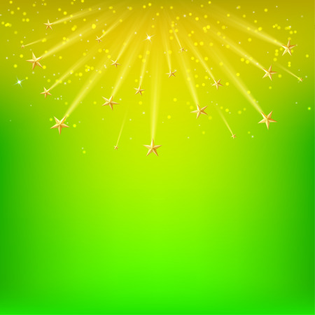 starfall: Festival background with falling gold stars, Starfall. Vector illustration Illustration