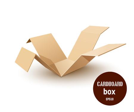shipped: Break a paper cardboard box. Vector illustration