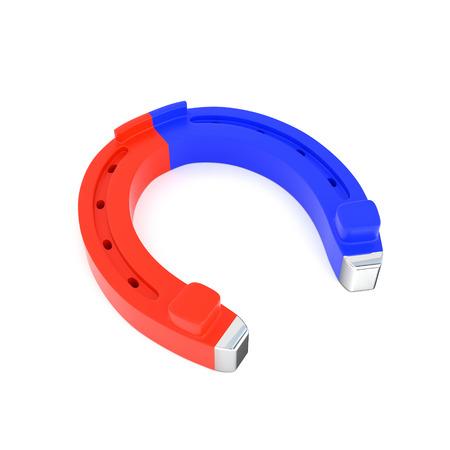 horseshoe magnet: Horseshoe magnet isolated on white background Stock Photo