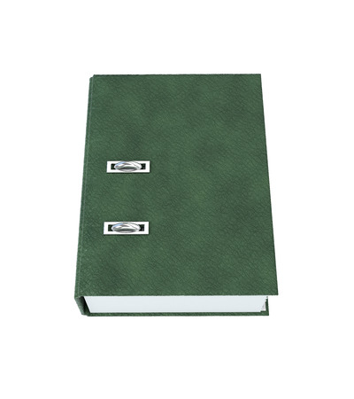 Folder Binder Leather texture isolated on a white background. 3d illustration. Stock Photo
