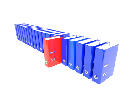 nudes: Red Folder in the series blue. 3D illustration