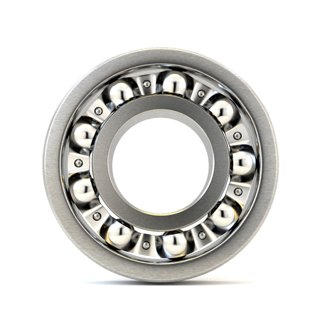 friction: Bearing front view isolated on white background. 3d illustration.