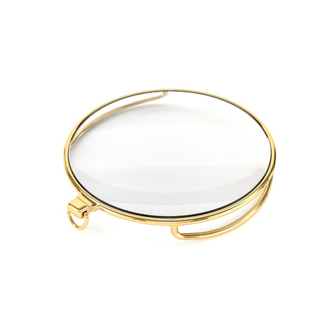 monocle: Gold monocle, isolated on a white background. 3d illustration.