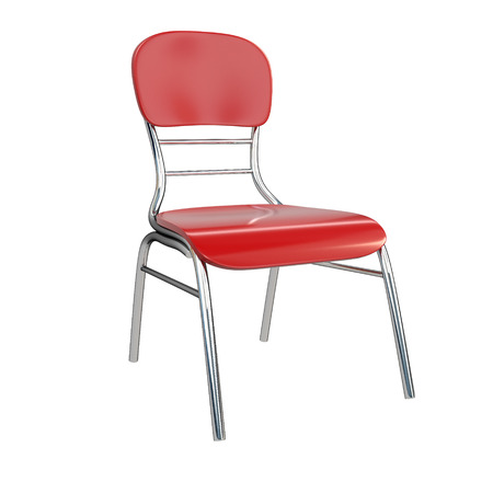 easy chair: Red chair, isolated on white background. 3d illustration.